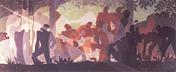 Aaron Douglas, <em>Aspects of Negro Life: An Idyll of the Deep South