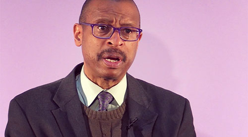 Ethelbert Miller reads excerpt from Langston Hughes's The Big Sea