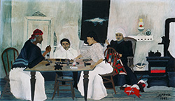 Horace Pippin, Domino Players, 1943