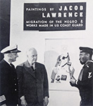 Lawrence at his exhibition at the Museum of Modern Art