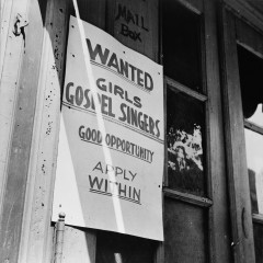 Gordon Parks, New York, New York. A sign in the Harlem section, 1943